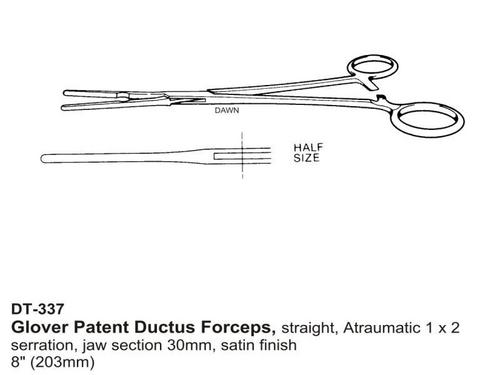 Glover Patent Ductus Forceps