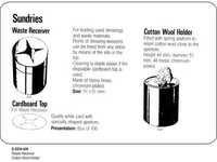 Waste Receiver Cotton Wool Holder