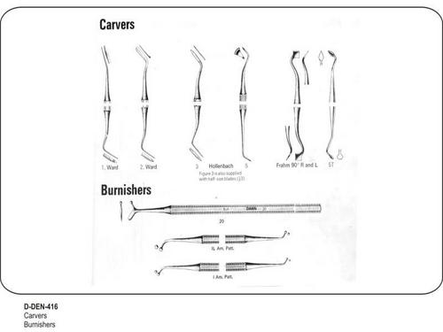 Carvers and Burnishers