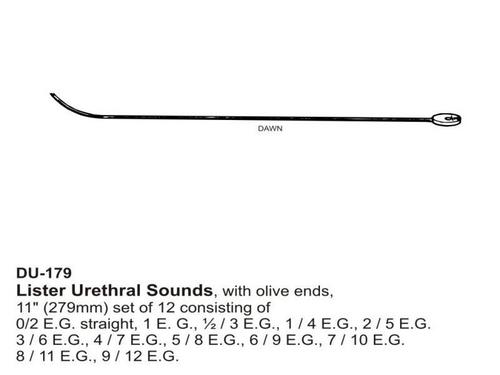 Lister Urethral Sounds