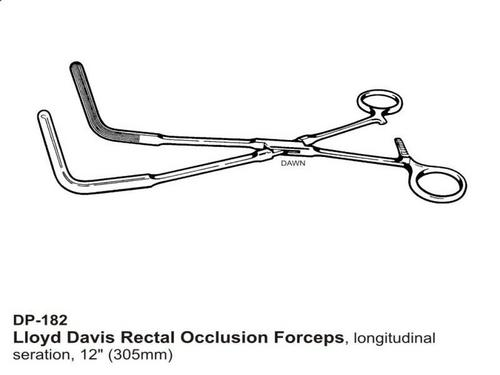 Lloyd Davis Rectal Occlusion Foreceps