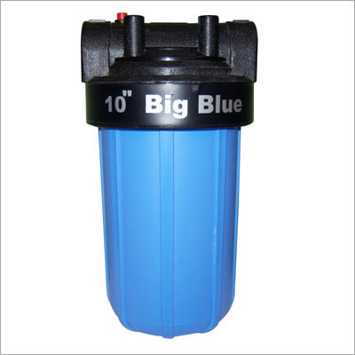 "10"" Big Blue Filter Housing."