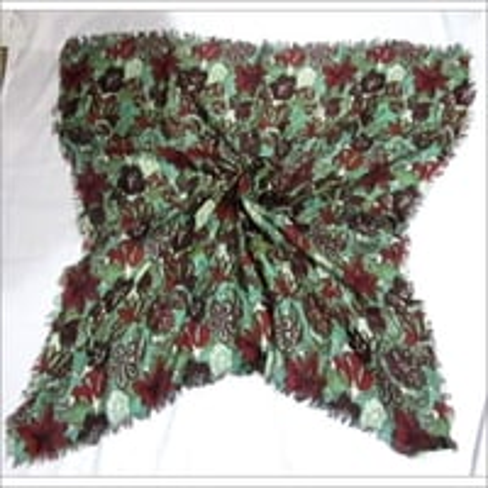 Wool Printed Square Scarves