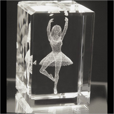 Laser Engraved Crystal Glass