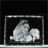 2D Crystal Photo Frame Engraving