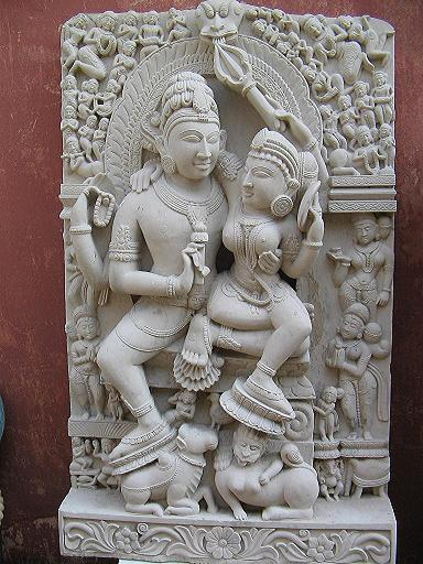 Stone Shiva Parvati