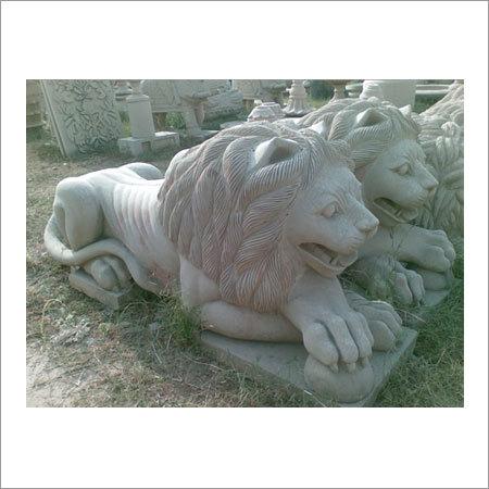 Sitting Stone Lion