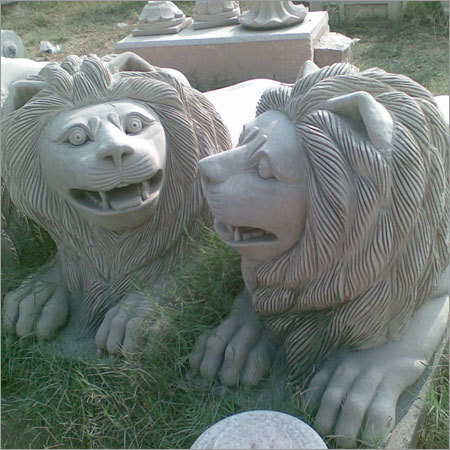 Sand Stone Lions