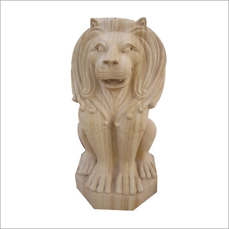 Sitting lion Statues