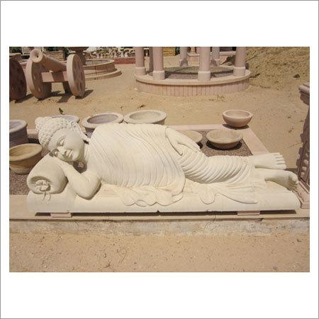 Sleeping fine Carved Buddha