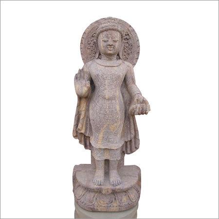 Standing carved buddha