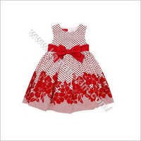 Printed Red Frock