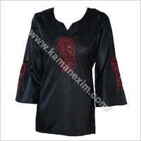 Black Embrodery Top Front