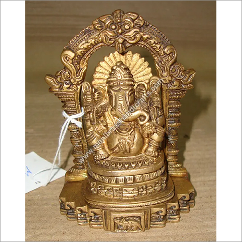 Antique Brass Ganesh Statue