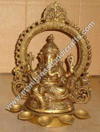 Ganesh With Ring & 5 Deeyas