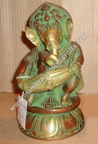 Ganesh Sitting Playing Tabla
