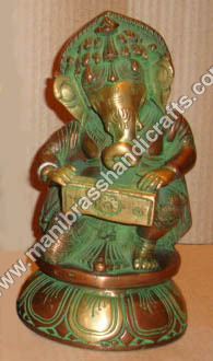 Ganesh Sitting Playing Harmonium