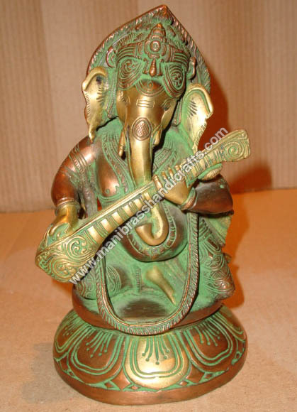 Ganesh Sitting Playing Sitar