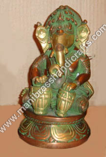 Ganesh Sitting Playing Dholak