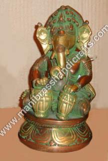 Ganesh Sitting Playing Dholak