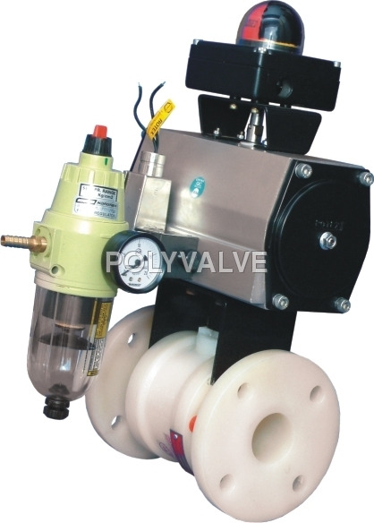 Pvdf pneumatically Actuated Ball Valve