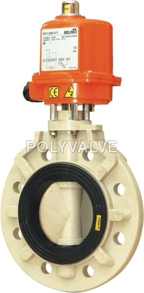 Pvdf Electric Actuated Butterfly Valve