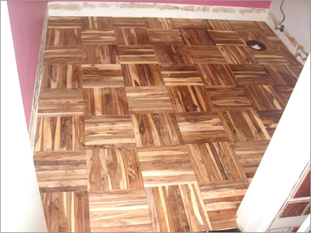 Brown Parquet Teak Flooring