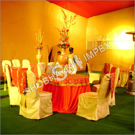 Table Cover And Chair