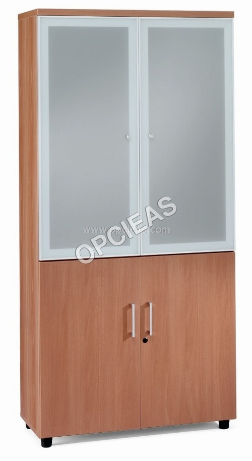 Rack with white glass Door