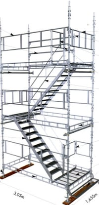 Scaffolding Staircase