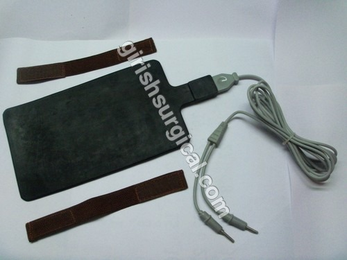 silicon rubber patient plate without cable cord (Detachable)