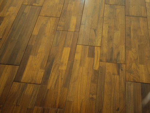 3 layer Burmese Teak Flooring
