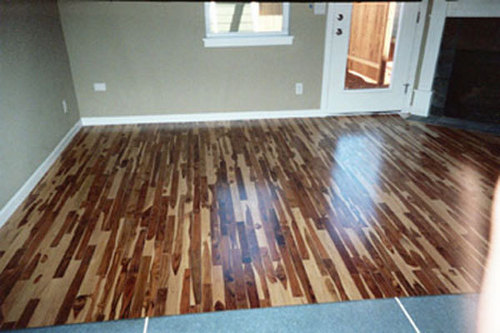 Brown-white Parquet