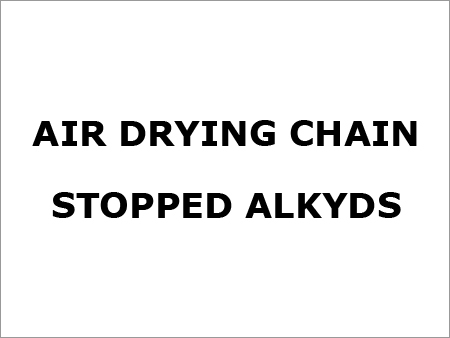 Air Drying Chain Stopped Alkyds