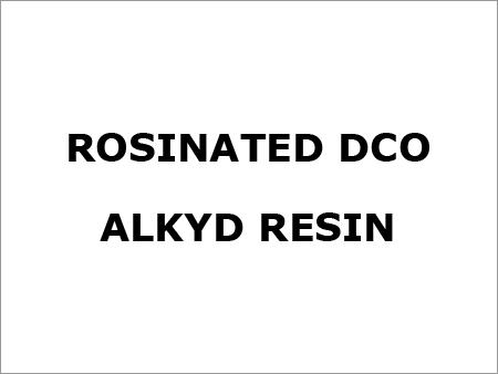 Rosinated Dco Alkyd Resin