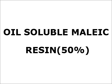 Oil Soluble Maleic Resin