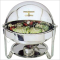 CHAFIN DISH ROUND ROLL TOP