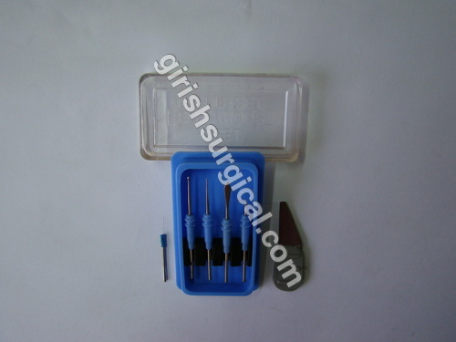ELECTRODES FOR SKIN-CAUTERY & RADIO FREQUENCY UNIT