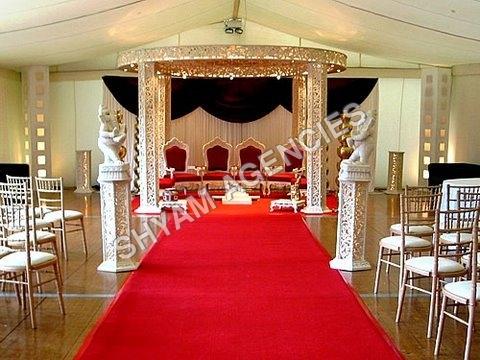 Carved Wooden Wedding Mandap