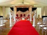 Carved Wooden Wedding Mandap
