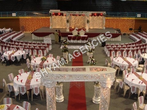 Wedding Crystal Set Up
