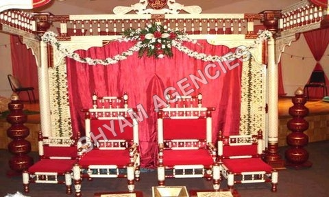 Shankheda Wedding Chair Set Up