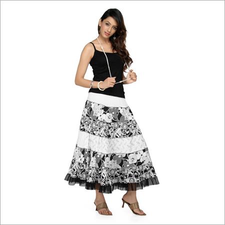 Trendy girls skirt top