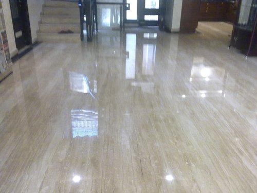 Diamond polish on italian floor
