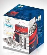 Travelling Tiffin Set With Bag