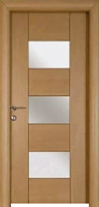 Teak Veneer Designer Door Panels