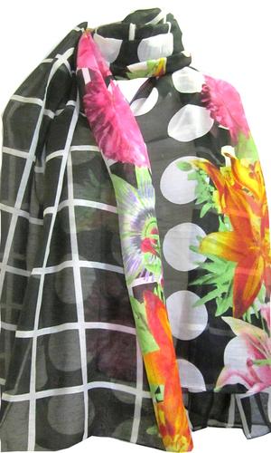 Flower Printed Rayon Shawls