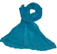 Lace Cotton Printed Wool Shawls