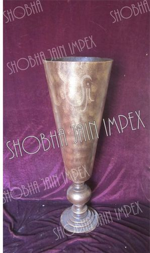 Brass Look Wedding Flower Pot