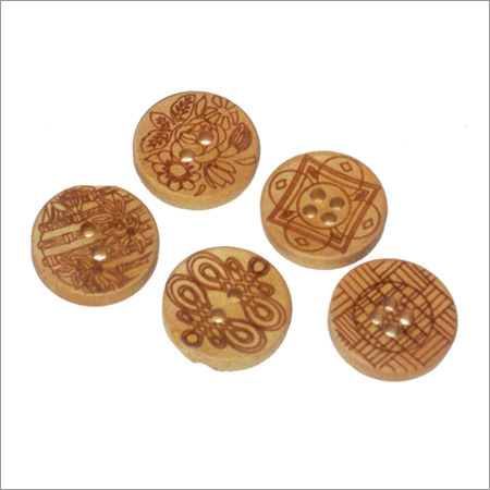 Handmade Wooden Button